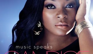 "This CD cover image released by Interscope Records shows ""Music Speaks,"" by Candice Glover. (AP Photo/Interscope Records)"