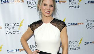 "FILE - This June 3, 2012 file photo shows actress Kelli O'Hara at the 57th Annual Drama Desk Awards in New York. O'Hara is back in the same theater where she made her Broadway debut in 2000. She stars in her latest Broadway musical, ""The Bridges of Madison County."" (Photo by Charles Sykes/Invision/AP, file)"