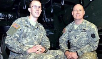 Sgt. Joseph Love, left, and Sgt. Daniel Famous (Image: U.S. Air National Guard)