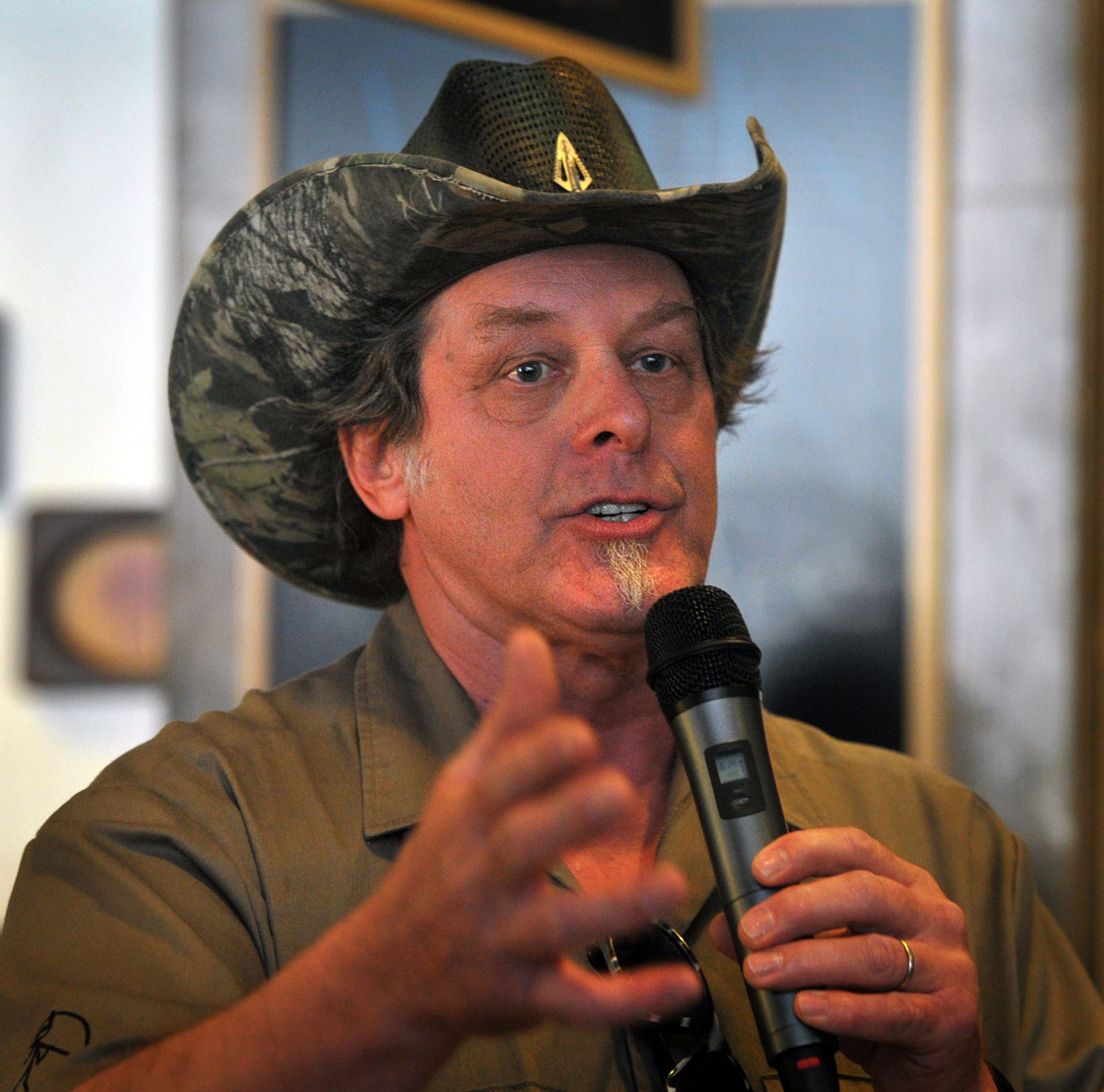 The racist image posted to Ted Nugent's Facebook.