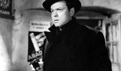 "Orson Welles plays Harry Lime in a scene of Carol Reed's movie ""The Third Man"". The documentary ""Shadowing the Third Man,"" which played at the Cannes Film Festival, chronicles the serendipity that turned Reed's 1949 caper into arguably the greatest postwar tale about the new world order of moral ambiguity. (AP Photo/HO) ** NO SALES **"