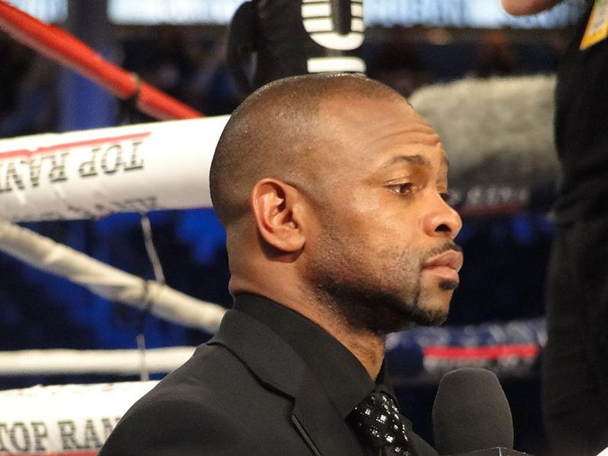 ** FILE ** Roy Jones Jr. at Yankee Stadium, Bronx, N.Y., on June 5, 2010. (Wikimedia Commons)