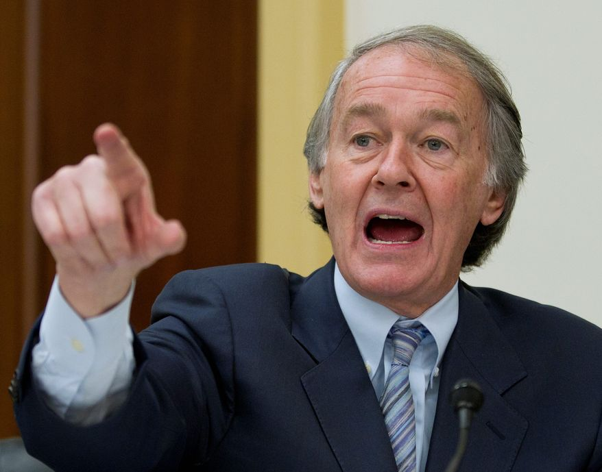 """Sen. Ed Markey, Massachusetts Democrat, renewed a push to require all newly-manufactured handguns to be """"personalized"""" with technology that prevents them from being used by criminals or the mentally ill. (associated press photographs)"""