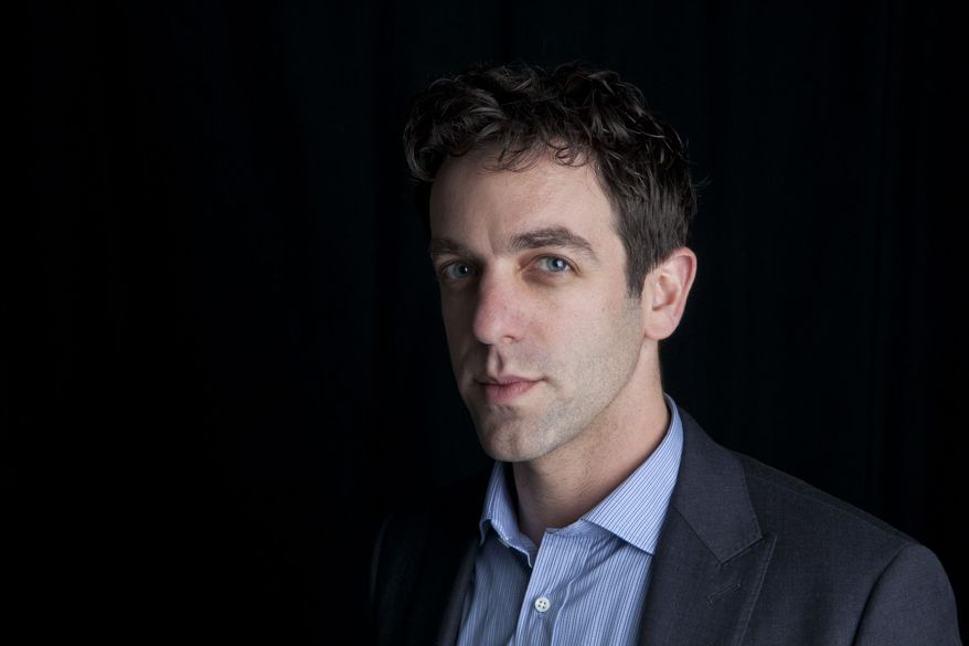 "This Feb. 7, 2014 photo shows actor and author B.J. Novak posing for a portrait to promote his new book, ""One More Thing: Stories and Other Stories,"" in New York. (Photo by Amy Sussman/Invision/AP)"