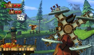 """This image released by Nintendo shows a scene from """"Donkey Kong Country: Tropical Freeze."""" (AP Photo/Nintendo)"""