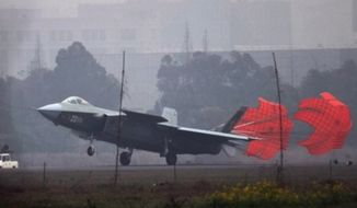 """China's """"Mighty Dragon"""" J-20 stealth jet. (Image: Chinese Internet)"""