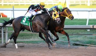 In a photo provided by Gulfstream Park, Wildcat Red (4) captures Grade II Fountain of Youth Stakes horse race at Gulfstream Park on Saturday, Feb. 22, 2014, in Hallandale Beach, Fla. (AP Photo/Gulfstream Park, Adam Coglianese)