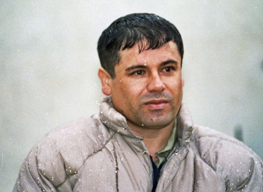 """FILE - In this June 10, 1993 file photo, Joaquin Guzman Loera, alias """"El Chapo"""" Guzman, is shown to the media after his arrest at the high security prison of Almoloya de Juarez, on the outskirts of Mexico City. A senior U.S. law enforcement official said Saturday, Feb. 22, 2014 that Guzman, the head of Mexico's Sinaloa Cartel, was captured alive overnight in the beach resort town of Mazatlan, Mexico. Guzman faces multiple federal drug trafficking indictments in the U.S. and is on the Drug Enforcement Administration's most-wanted list. His cartel has been heavily involved in the bloody drug war that has torn through parts of Mexico for the last several years.  (AP Photo/Damian Dovarganes, File)"""