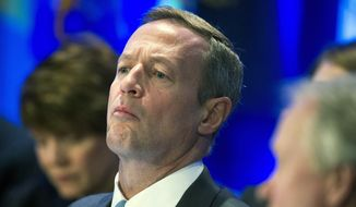 Maryland Gov. Martin O'Malley participates in the morning session of the National Governor's Association Winter Meeting in Washington, Saturday, Feb. 22, 2014. (AP Photo/Cliff Owen)