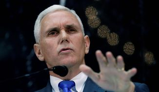 "** FILE ** Gov. Mike Pence, Indiana Republican, said states need to have the ""freedom and flexibility to craft policies"" on CNN's ""State of the Union."" (Associated Press)"