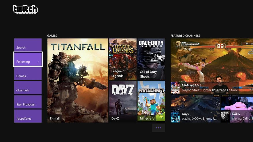 This image provided by Microsoft/Twitch, shows a screenshot of a video game being broadcast from the updated Twitch app for Xbox One. The popular video gamebroadcasting service Twitch is bringing a slew of fresh features to Microsoft's newest console. An update next month will add the ability to live stream video games, join in on games with broadcasters, initiate game broadcasts with voice commands, archive game clips and watch Twitch streams broadcast from any device, including the PS4. (AP Photo/Microsoft/Twitch)
