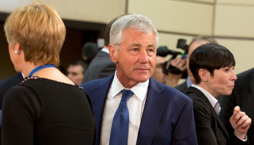 Defense Secretary Chuck Hagel announced plans to make a shrinking armed forces even smaller. (Associated Press)