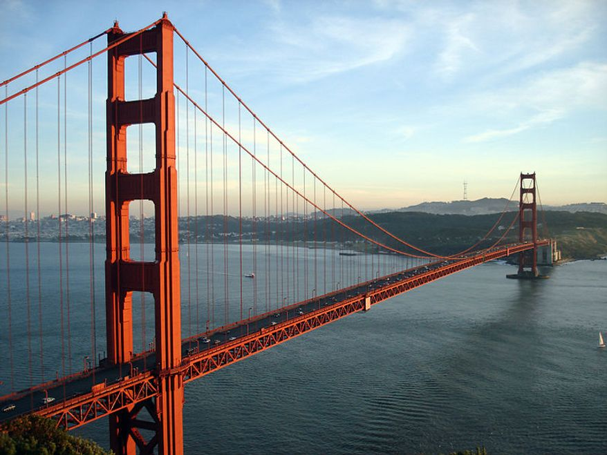 Golden Gate Bridge in San Francisco, Calif.  (Wikipedia)