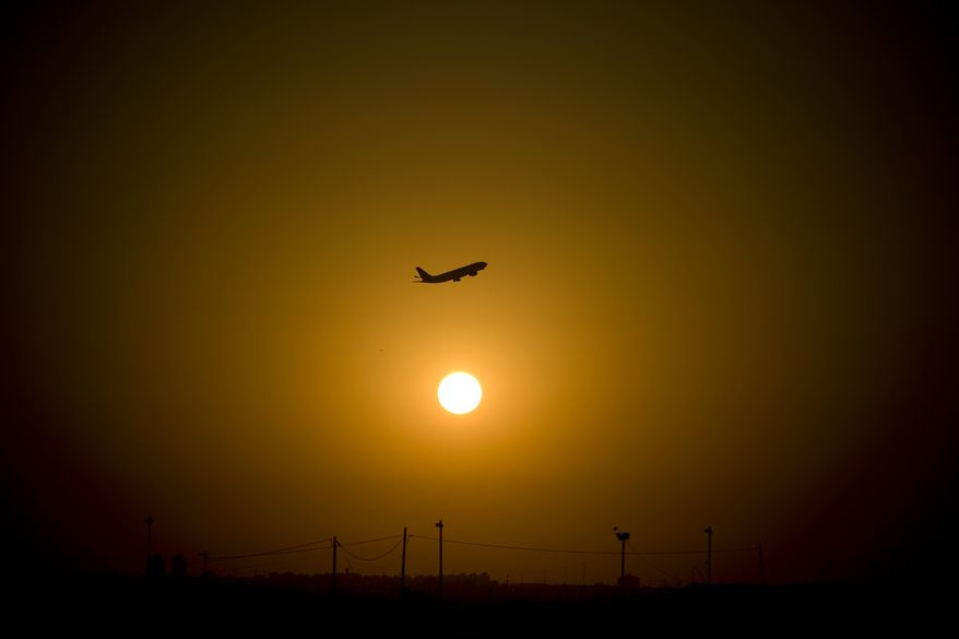 ** FILE ** In this Nov. 2, 2010, file photo, a passenger plane takes off from Ben Gurion airport near Tel Aviv, Israel. (AP Photo/Ariel Schalit, File)