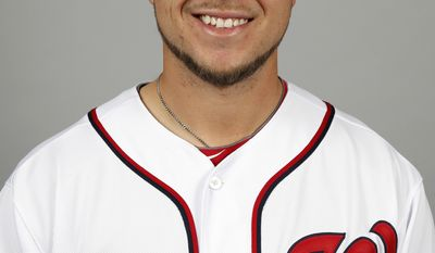 This is a 2014 photo of Tony Beasley of the Washington Nationals baseball team. This image reflects the Nationals active roster as of, Sunday, Feb. 23, 2014, when this image was taken. (AP Photo/Alex Brandon)