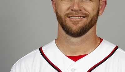 This is a 2014 photo of Jeff Garber of the Washington Nationals baseball team. This image reflects the Nationals active roster as of, Sunday, Feb. 23, 2014, when this image was taken. (AP Photo/Alex Brandon)