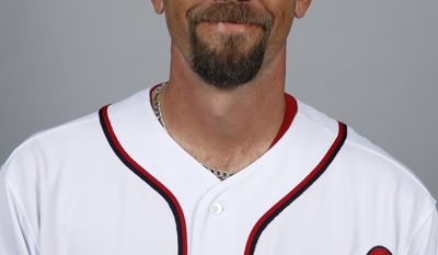 This is a 2014 photo of Chris Michalak of the Washington Nationals baseball team. This image reflects the Nationals active roster as of, Sunday, Feb. 23, 2014, when this image was taken. (AP Photo/Alex Brandon)
