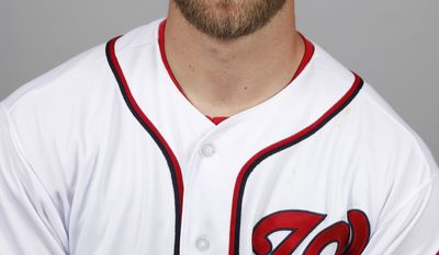 This is a 2014 photo of Josh Roenicke of the Washington Nationals baseball team. This image reflects the Nationals active roster as of, Sunday, Feb. 23, 2014, when this image was taken. (AP Photo/Alex Brandon)