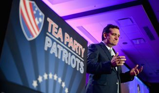 """I am hopeful. I am optimistic. I am filled with the promise that we are going to turn this country around because there is a grass-roots revolution going on,"" says tea party-backed Sen. Ted Cruz, Texas Republican. (Andrew Harnik/The Washington Times)"