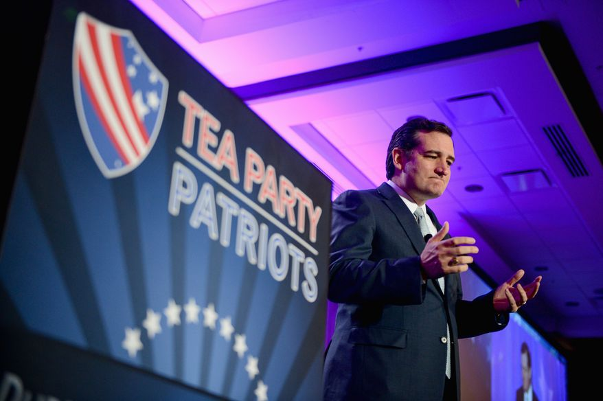 """""""I am hopeful. I am optimistic. I am filled with the promise that we are going to turn this country around because there is a grass-roots revolution going on,"""" says tea party-backed Sen. Ted Cruz, Texas Republican. (Andrew Harnik/The Washington Times)"""