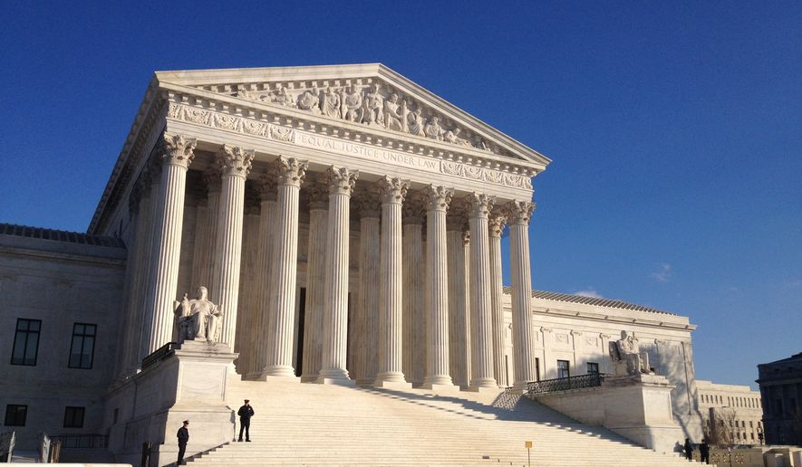 ** FILE ** The U.S. Supreme Court, December 2013. (The Washington Times/Emily Miller)