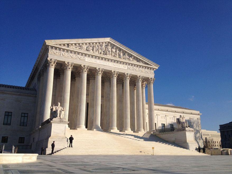 ** FILE ** The U.S. Supreme Court, December 2013. (The Washington Times/Emily Miller)