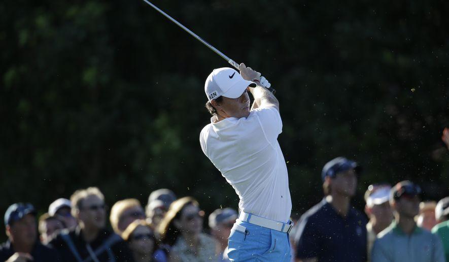 Rory McIlroy of Northern Ireland tees off on the 15th hole during the third round of the Honda Classic golf tournament, Saturday, March 1, 2014, in Palm Beach Gardens, Fla. (AP Photo/Lynne Sladky)