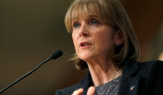Massachusetts Attorney General Martha Coakley argues the state buffer-zone law has kept the peace around abortion clinics. (Associated Press)