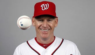 This is a 2014 photo of manager Matt Williams of the Washington Nationals baseball team. This image reflects the Nationals active roster as of, Sunday, Feb. 23, 2014, when this image was taken. (AP Photo/Alex Brandon)