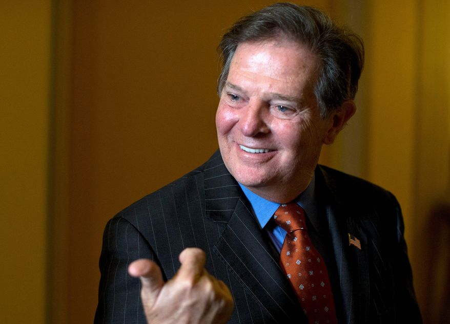 """Former House Majority Leader Tom DeLay, Texas Republican, says of his new weekly column and on-demand radio show for The Washington Times that he's """"very excited about having a platform for a dialogue with the American people."""" (Associated Press)"""