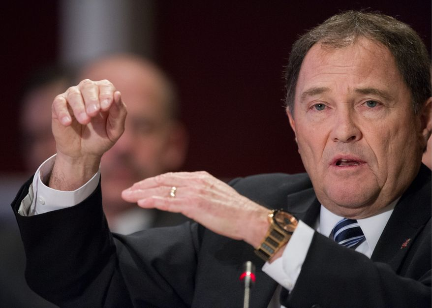 "Utah Gov. Gary Herbert, a Republican, told the Washington Times that he and other governors want reassurance that active-duty Army and Army reserve components have been ""balanced appropriately."" (Associated Press)"