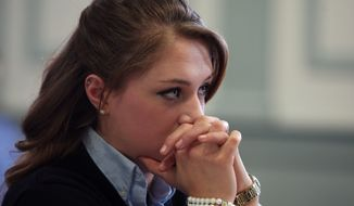 High school senior Rachel Canning, 18, appears in Morris County Superior Court in Morristown, N.J., Tuesday, March 4, 2014. Canning is suing her parents for financial support and college tuition after she claims they threw her out of the home. (AP Photo/Daily Record, Bob Karp, Pool)