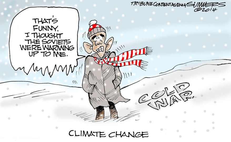 Climate Change (Illustration by Dana Summers of the Tribune Media Services