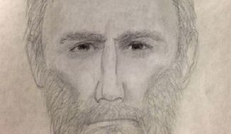 Alexandria police released this composite sketch of a suspect in the Feb. 6 fatal shooting of Ruthanne Lodato. Officials say the shooting could be related to two other homicides, including the 2003 unsolved killing of Nancy Dunning.