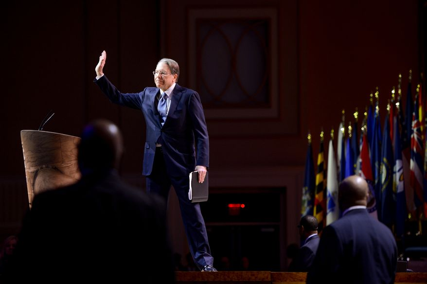 Vice President of the National Rifle Association Wayne LaPierre speaks at the Conservative Political Action Conference (CPAC) held at the Gaylord Hotel, National Harbor, Md., Thursday, March 6, 2014. (Andrew Harnik/The Washington Times)