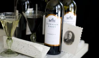 This Feb. 10, 2014 photo shows Downton Abbey wine in Concord, N.H. (AP Photo/Matthew Mead)
