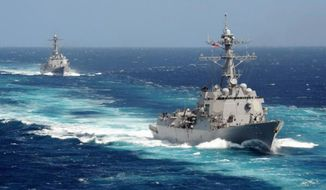 USS Kidd and USS Pinckney. (Image: U.S. Navy)