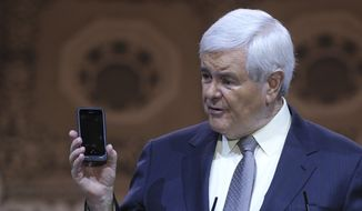 House Speaker Newt Gingrich advised millennials not to give up on the pursuit of happiness. (AP Photo/File)