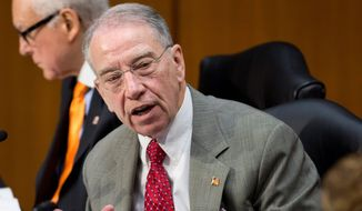 """""""The problems with [optional practical training program] are extensive and serious. The report not only calls into question the department's oversight of the program, but also whether such lack of oversight is a serious national security risk,"""" Sen. Charles E. Grassley, the Iowa Republican. (Associated Press)"""