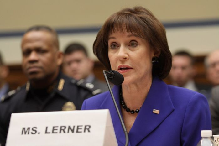 """House Oversight Committee Republicans' new report accuses Lois G. Lerner of """"reckless handling"""" of sensitive taxpayer information because she forwarded it from her government account to a private email. (Associated Press)"""