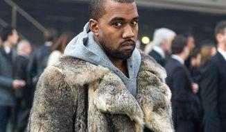 Rapper Kanye West (AP Photo/Zacharie Scheurer, File)