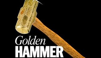 The most egregious examples of government waste, fraud or abuse from TWT staff. (Golden Hammer cropped logo)