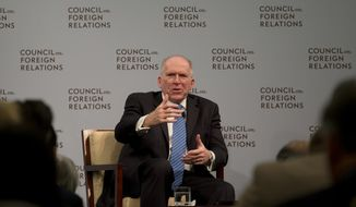 CIA Director John O. Brennan speaks at the Council on Foreign Relations, Tuesday, March 11, 2014, in Washington. The head of the Senate Intelligence Committee said Tuesday the CIA improperly searched a stand-alone computer network established for Congress in its investigation of allegations of CIA abuse in a Bush-era detention and interrogation program and the agency's own inspector general has referred the matter to the Justice Department for possible legal action. (AP Photo/Carolyn Kaster)