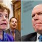 Sen. Diane Feinstein, D-CA, and CIA Director John O. Brennan.