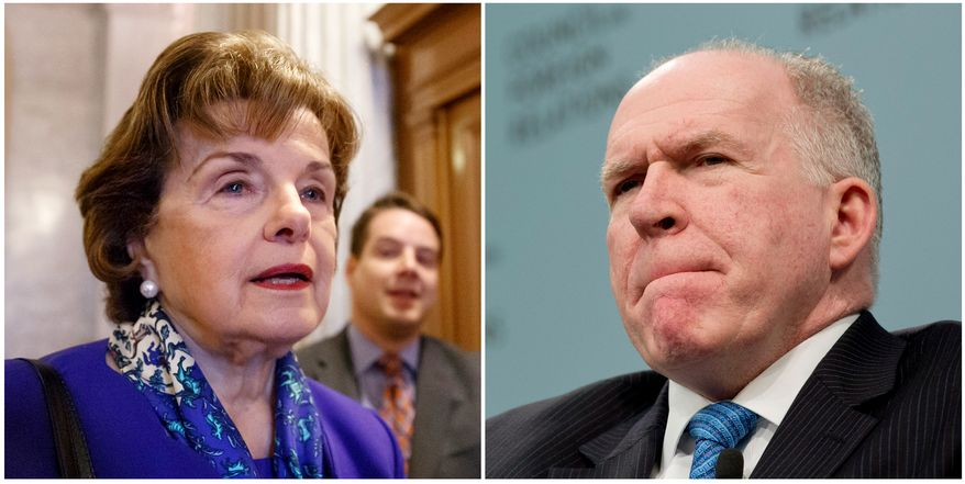 Sen. Diane Feinstein, D-CA, and CIA Director John O. Brennan.