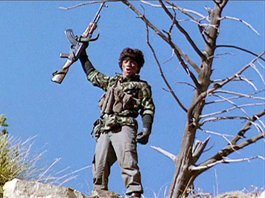 The iconic AK 47 automatic assault rifle appeared in 1984's 'Red Dawn.