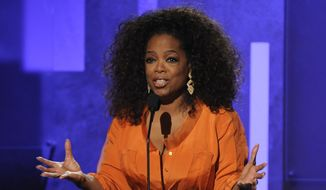"FILE - This Feb. 22, 2014 file photo shows Oprah Winfrey speaking at the 45th NAACP Image Awards  in Pasadena, Calif. Winfrey's latest book project will be""What I Know for Sure"" a collection of her magazine columns she wrote for O, the Oprah Magazine. Flatiron Books, a new nonfiction imprint of Macmillan, announced Wednesday, March 12, that the book will come out Sept. 2. It will be the imprint's first release. (Photo by Chris Pizzello/Invision/AP, File)"
