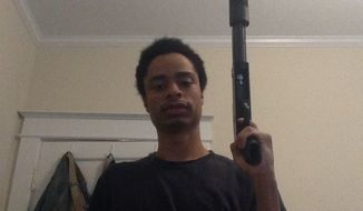 An undated photo of Maryland mall shooter Darion Marcus Aguilar, taken during December 2013 or January 2014 (Photo from Howard County Police Department).