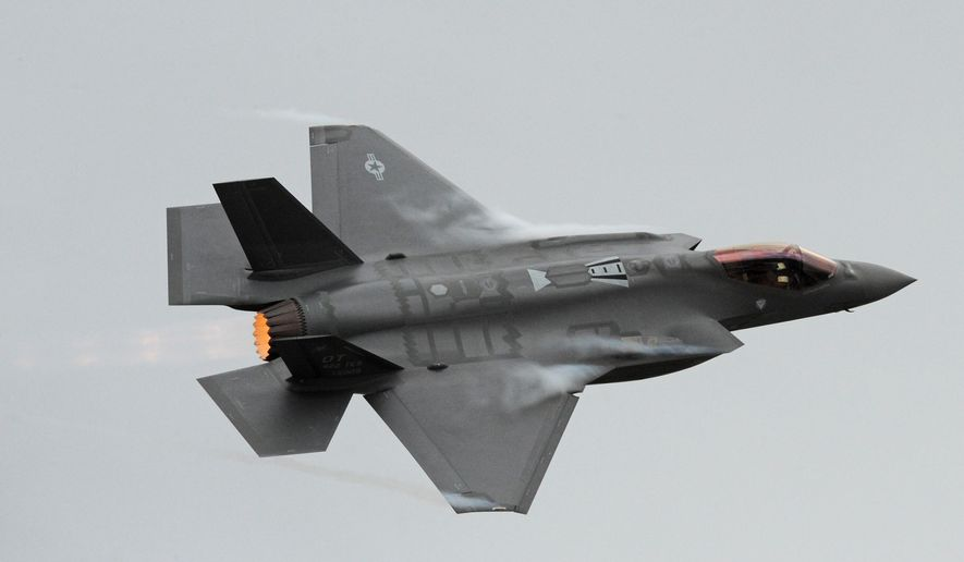 The first F-35A Lightning II to land at Hill Air Force Base, Utah, arrives Sept. 13, 2013. (Image: U.S. Air Force photo/Alex R. Lloyd) ** FILE **