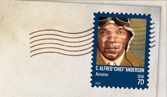 "Black aviation pioneer C. Alfred ""Chief"" Anderson is honored on a new stamp."